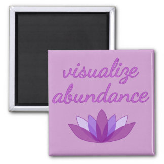 Visualize Abundance with Lotus 2 Inch Square Magnet