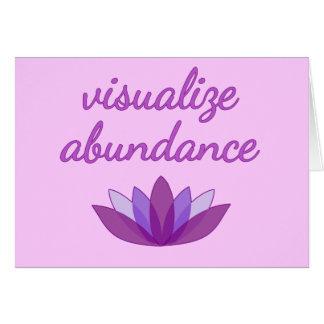 Visualize Abundance with Lotus Greeting Card
