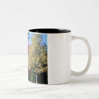 Visualize Fall trees Two-Tone Coffee Mug