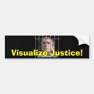 Visualize Justice Bumpersticker Bumper Sticker