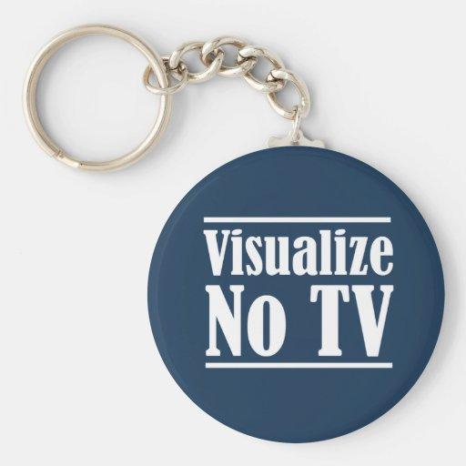 Visualize No TV Keychain