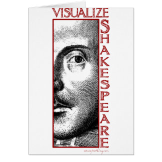 Visualize Shakespeare Greeting Card