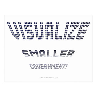 Visualize Smaller Government! Postcard
