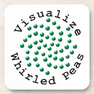 Visualize Whirled Peas 2 Beverage Coaster