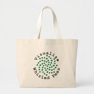 Visualize Whirled Peas 2 Jumbo Tote Bag