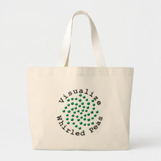 Visualize Whirled Peas 2 Large Tote Bag