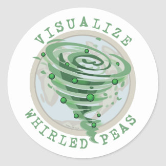 Visualize Whirled Peas Classic Round Sticker