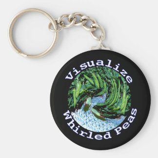 Visualize Whirled Peas Keychain