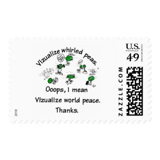 Visualize Whirled Peas Postage Stamp