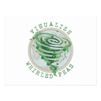 Visualize Whirled Peas Postcard