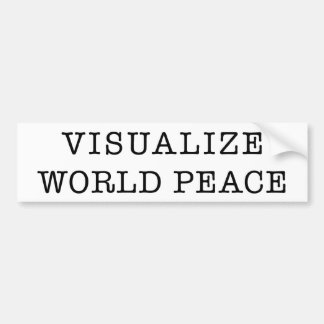 Visualize World Peace bumper sticker