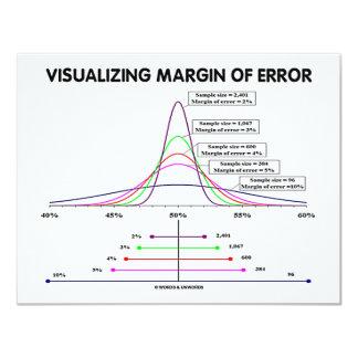 Visualizing Margin Of Error 4.25x5.5 Paper Invitation Card