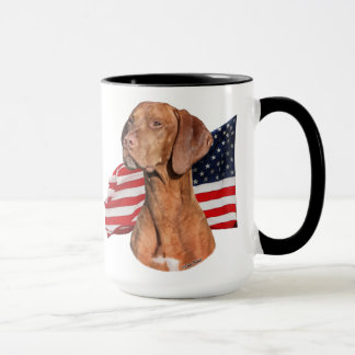 Viszla head with Flag Mug
