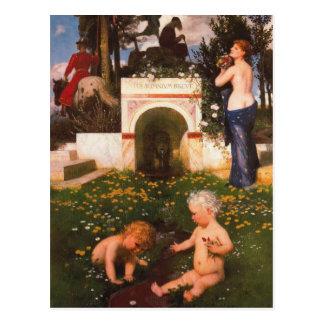 Vita somnium breve by Arnold Böcklin Postcard