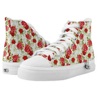 vitage flowers printed shoes