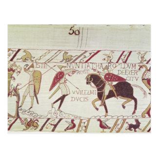 Vital informa a rey Harold Tarjeta Postal
