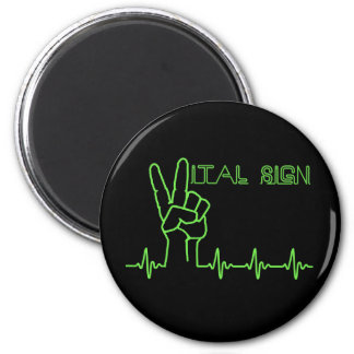 Vital Sign 2 Inch Round Magnet