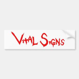 vital signs bumper sticker