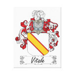 Vitale Family Crest Canvas Print