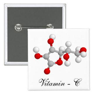 Vitamin C 2 Inch Square Button