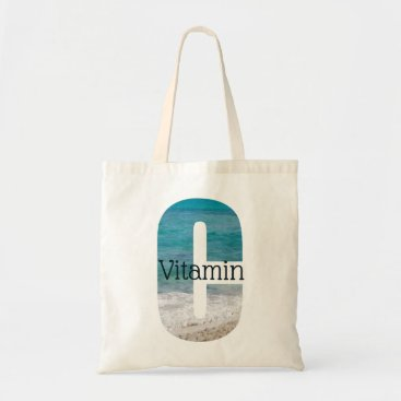 Vitamin C Beach Scene Tote Bag