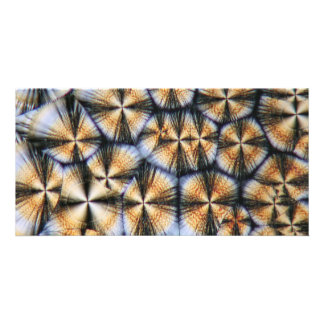 Vitamin C crystals under the microscope Card