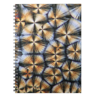 Vitamin C crystals under the microscope Spiral Notebook