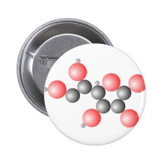 Vitamin C Molecule Button