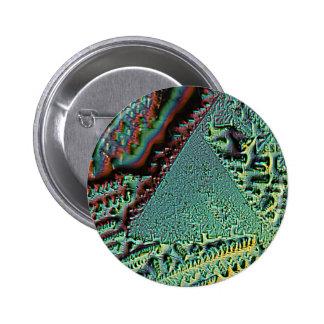 Vitamin C pyramid under the microscope Pinback Button