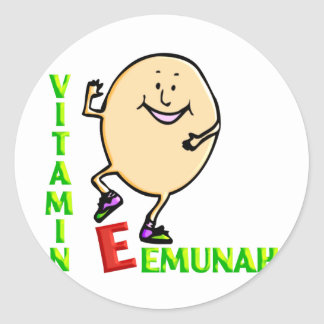 Vitamin E Classic Round Sticker