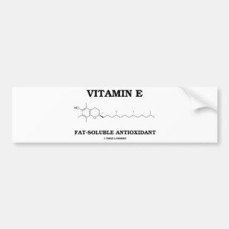 Vitamin E Fat-Soluble Antioxidant (Molecule) Car Bumper Sticker