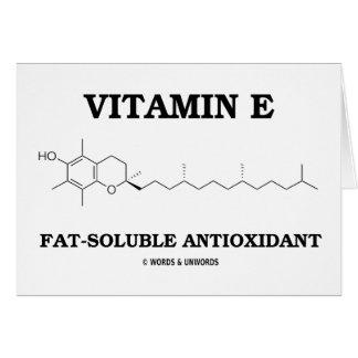 Vitamin E Fat-Soluble Antioxidant (Molecule) Greeting Card