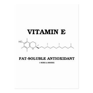 Vitamin E Fat-Soluble Antioxidant (Molecule) Postcard
