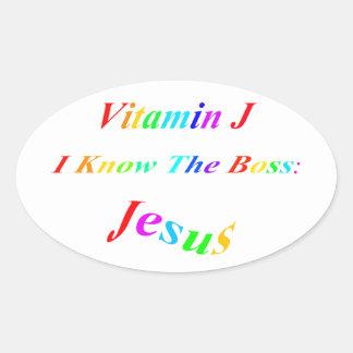 Vitamin J Oval Sticker