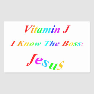 Vitamin J Rectangular Sticker