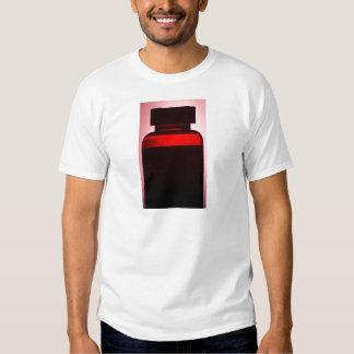 Vitamin pill bottle silhouette photograph shirt