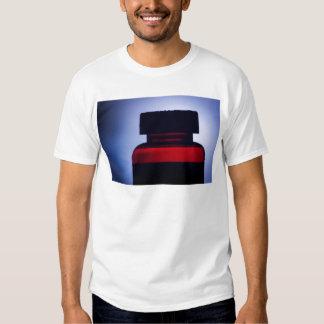 Vitamin pill bottle silhouette photograph t-shirt