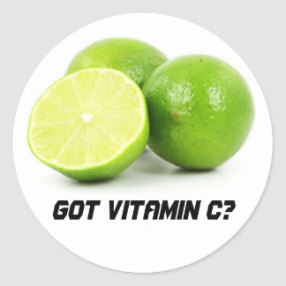 ¿Vitamina C conseguida? Pegatina Redonda