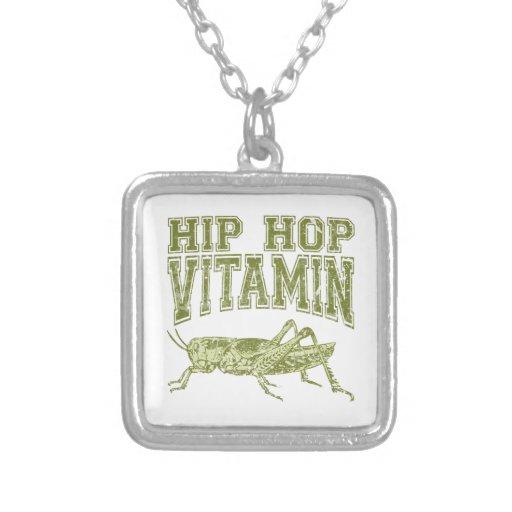 Vitamina de Hip Hop Colgante Cuadrado