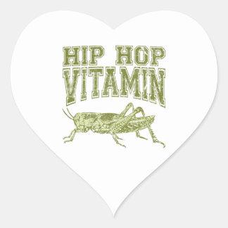 Vitamina de Hip Hop Pegatina Corazón