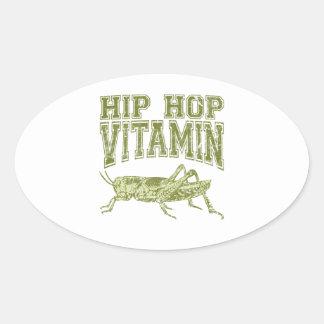 Vitamina de Hip Hop Pegatina Ovalada