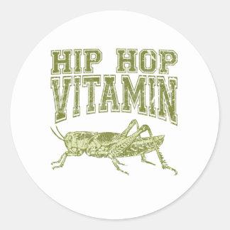 Vitamina de Hip Hop Pegatina Redonda