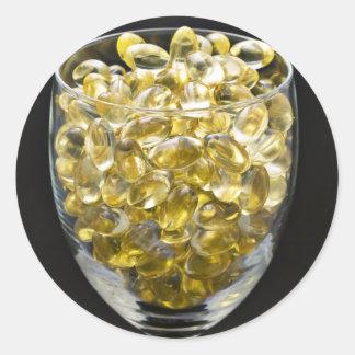 Vitamina E Pegatina Redonda