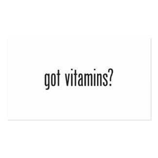 vitaminas conseguidas tarjetas de visita