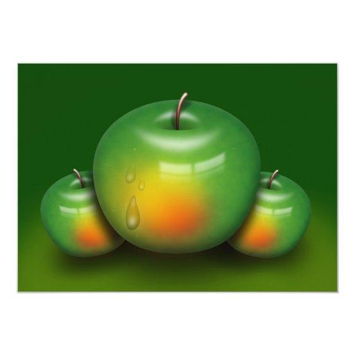 vitaminas sanas de la cocina de la fruta de la invitación 12,7 x 17,8 cm