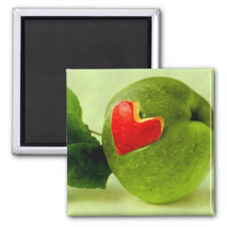 Vitamins with heart 2 inch square magnet