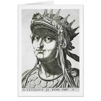 Vitellius (15-69 ANUNCIO), 1596 (grabado) Tarjeta De Felicitación