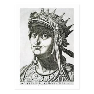 Vitellius (15-69 ANUNCIO), 1596 (grabado) Tarjetas Postales