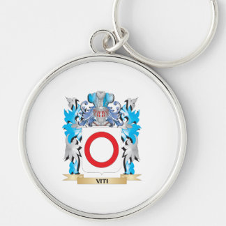 Viti Coat of Arms - Family Crest Silver-Colored Round Keychain