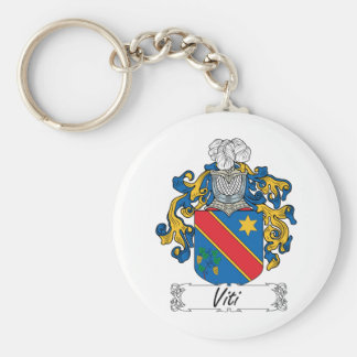 Viti Family Crest Basic Round Button Keychain